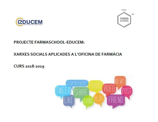 Projecte Farmaschool Educem: Gestió de Xarxes Socials a l'Oficina de Farmàcia